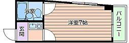 リバーサイド東梅田[5階]の間取り