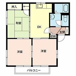 フォーレス新金岡 2階3DKの間取り