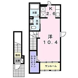 東京都練馬区富士見台1丁目の賃貸アパートの間取り