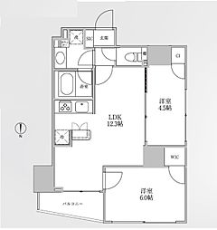 JR中央線 御茶ノ水駅 徒歩7分の賃貸マンション 10階2LDKの間取り