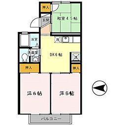 エスポワールT[2階]の間取り