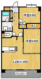 テラス・コンコード[5階]の間取り