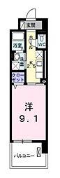 神奈川県平塚市田村1丁目の賃貸マンションの間取り