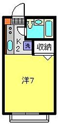 神奈川県横浜市保土ケ谷区西谷町の賃貸アパートの間取り