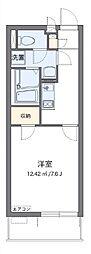 クレイノ芝富士ハイツ 57163 3階1Kの間取り