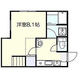 ハーミットクラブハウス鎌倉[102号室]の間取り