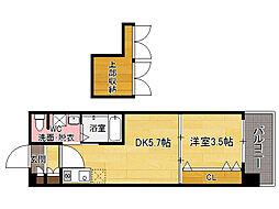 No60 V-TOWER天神[5階]の間取り