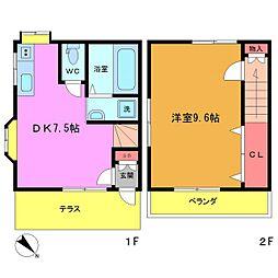 [テラスハウス] 千葉県市川市富浜2丁目 の賃貸【/】の間取り