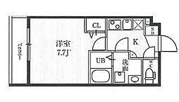 新宿夏目坂コート 3階1Kの間取り