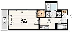 東京メトロ副都心線 千川駅 徒歩6分の賃貸マンション 1階1Kの間取り