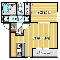 (仮)レディア姪浜[302号室]の間取り