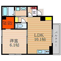 滋賀県彦根市和田町の賃貸アパートの間取り