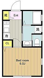 神奈川県横浜市旭区東希望が丘の賃貸アパートの間取り