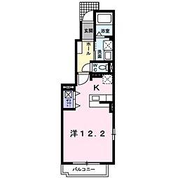 愛知県豊田市西岡町二本木の賃貸アパートの間取り