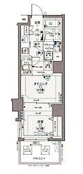 日神デュオステージ浅草松が谷 4階1DKの間取り