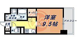 Osaka Metro四つ橋線 花園町駅 徒歩13分の賃貸マンション 3階1Kの間取り