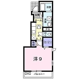 愛知県豊橋市下地町字北村の賃貸アパートの間取り