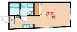 東武東上線 中板橋駅 徒歩1分の賃貸マンション 5階ワンルームの間取り