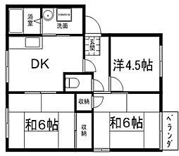 メゾンファミールA・B棟[1階]の間取り