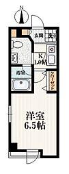 ララ桜台 2階1Kの間取り