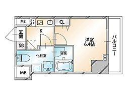 Valore Nishisugamo(ヴァローレ西巣鴨) 13階1Kの間取り