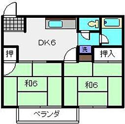 カーサカトーA[2階]の間取り