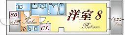 兵庫県神戸市須磨区磯馴町6丁目の賃貸マンションの間取り