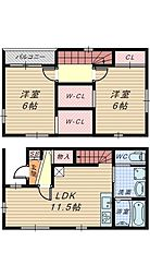 [一戸建] 大阪府堺市堺区寺地町西1丁 の賃貸【/】の間取り