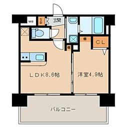 三島マンション博多駅東[606号室]の間取り