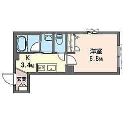 鶴見区生麦3丁目シャーメゾン (仮) 1階1Kの間取り