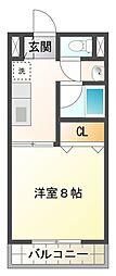 サープラス松田[1階]の間取り