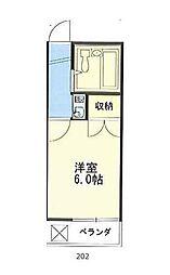Roomy ASADA[2階]の間取り