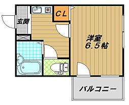 シーサイドマンション[2階]の間取り