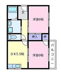 フローラルパル[2階]の間取り