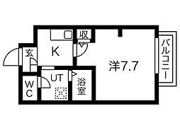 泉北高速鉄道 深井駅 徒歩22分の賃貸アパート 1階1Kの間取り