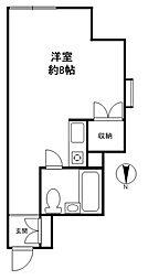 コーポ駒沢[1階]の間取り