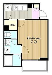 相鉄本線 大和駅 徒歩12分の賃貸アパート 2階1Kの間取り