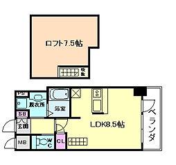 エスリード大阪シティーウエスト[2階]の間取り