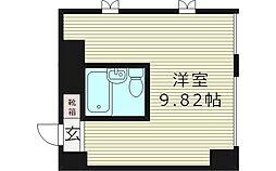 エクラ関目ウエスト 6階ワンルームの間取り