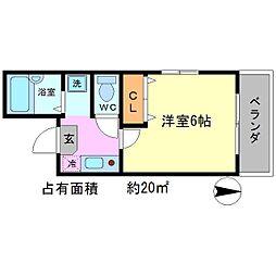 スウィートルーム聖護院西[3階]の間取り