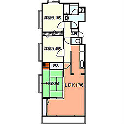 デルニエK[2階]の間取り
