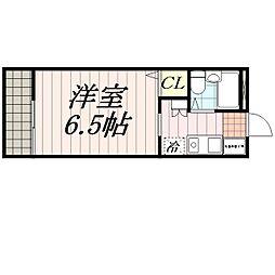 千葉県千葉市花見川区花園4丁目の賃貸アパートの間取り