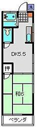 志村アパート[3号室]の間取り