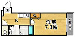 Osaka Metro今里筋線 瑞光四丁目駅 徒歩6分の賃貸アパート 1階1Kの間取り