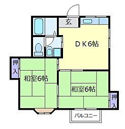 吉川コーポ[1階]の間取り