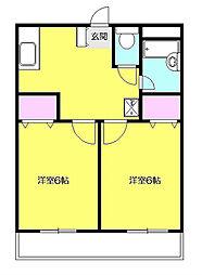 ハナヤビル[3階]の間取り