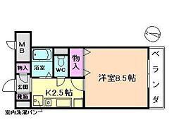 ツインステージ南花屋敷[2階]の間取り