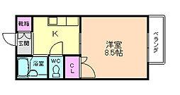 大阪府豊中市南桜塚2丁目の賃貸アパートの間取り