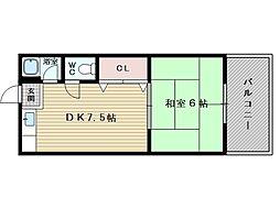坂本マンション[2階]の間取り