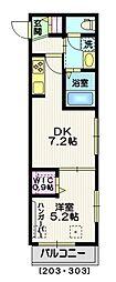 東京メトロ銀座線 外苑前駅 徒歩4分の賃貸マンション 3階1DKの間取り